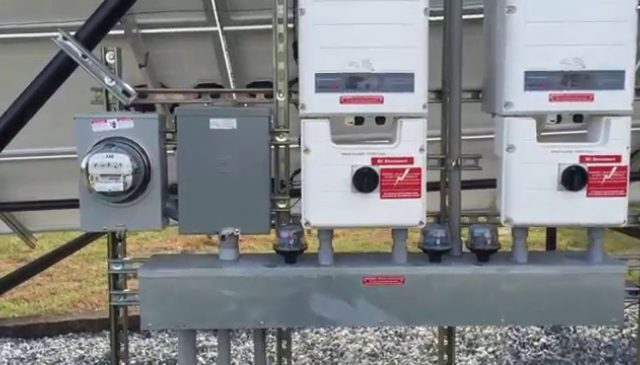 Inverters for a grid-tied solar array