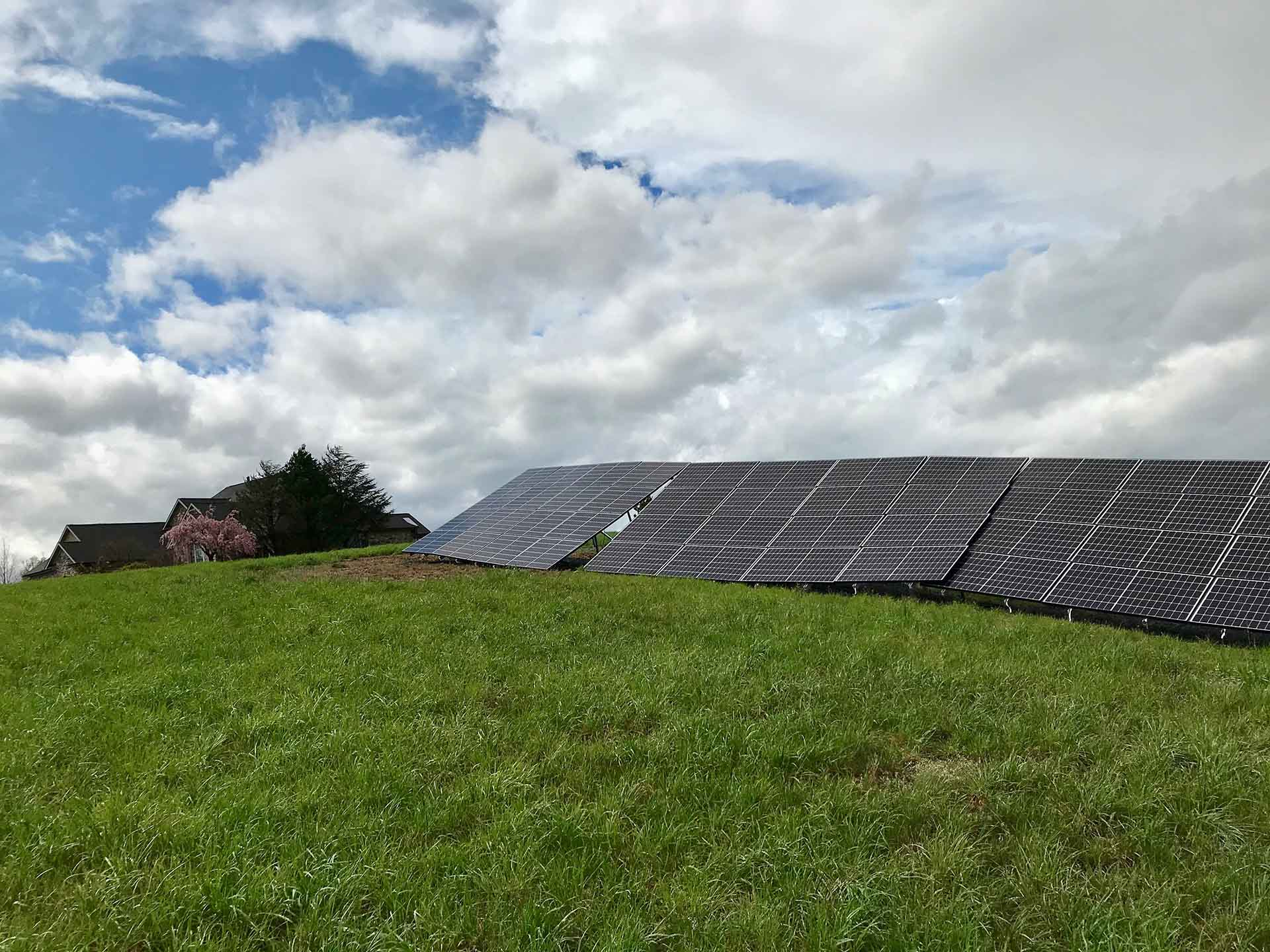 Destroyed Ground Mounted Solar Install Robesonia PA