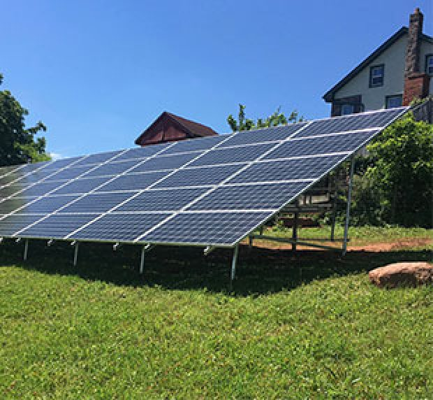 Ground Mount system by solar energy installer in Pa