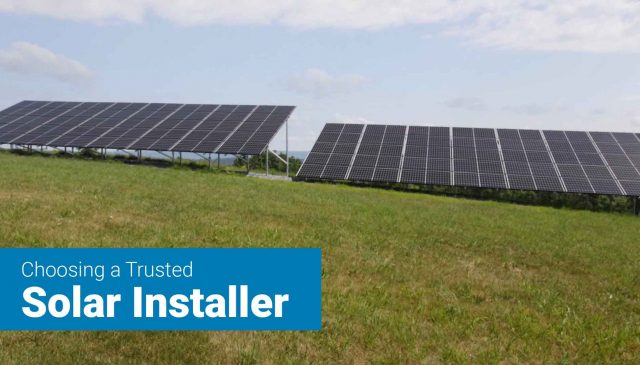 Picture of ground mount solar array done by trusted solar company