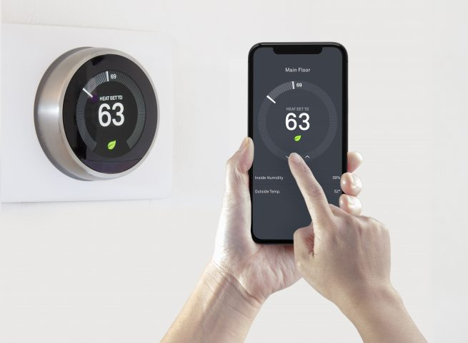 Make your net zero house more efficient with a smart thermostat.