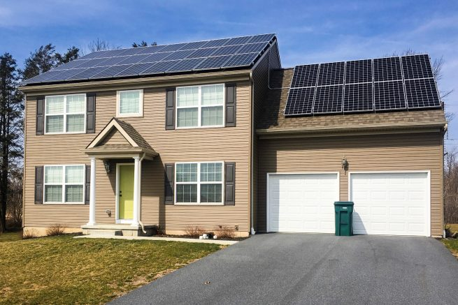 A residential solar energy system has a great impact on the environment.