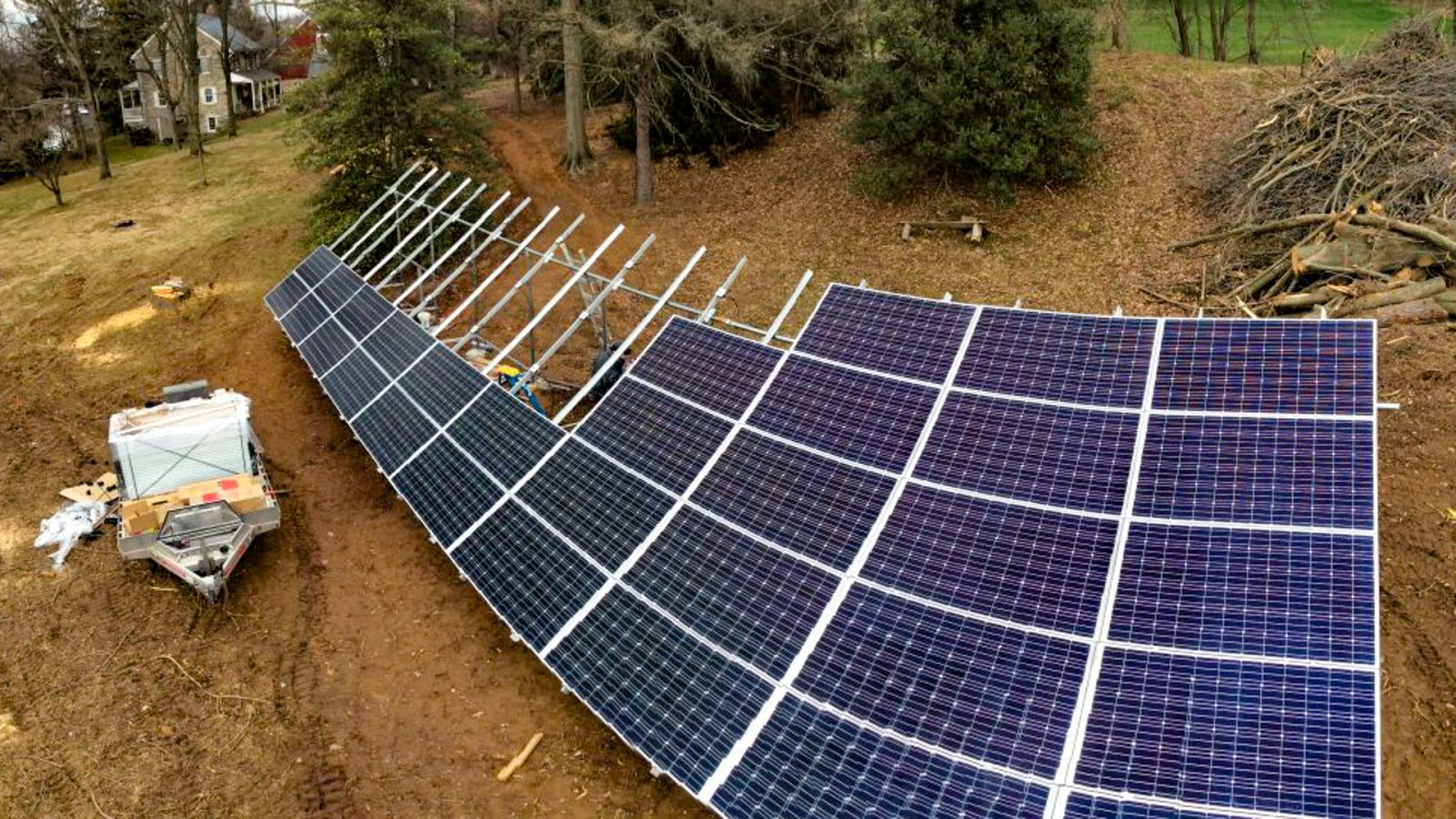 A 17 kw solar installation for a net zero building in Willow Street, Pennsylvania.