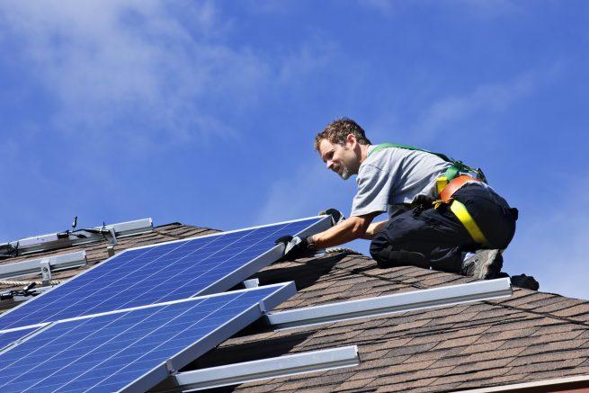 Begin a solar job as a solar pv installer.