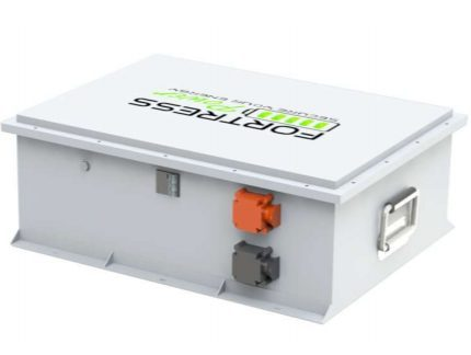A white fortress power battery bank for a solar system.