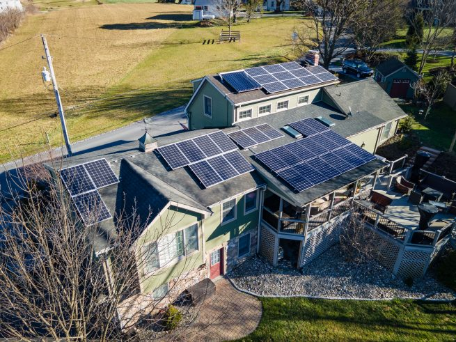 A Grid tied solar system with fortress power battery backup for solar.