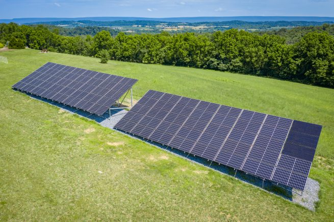 An off grid solar system with a Fortress Power battery backup for solar.