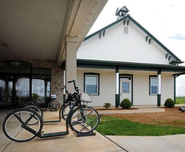 Pa grid tied solar intercourse library original school house building.